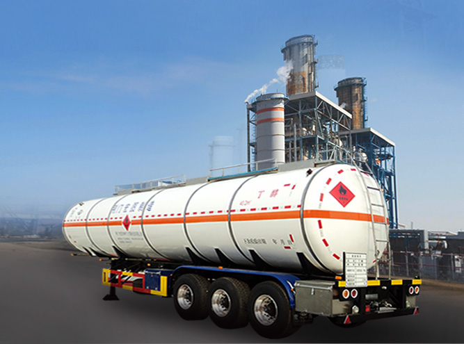 HT9401GRY Flammable liquid tank semi-trailer(Chemical Vehicle)
